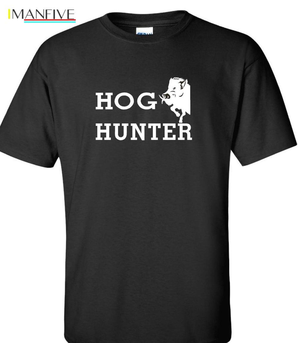 2019 New Cotton Tee Shirt Hog Hunter wild boar hog huntings t shirt 4 colors Fashion T shirt in T Shirts from Men 39 s Clothing