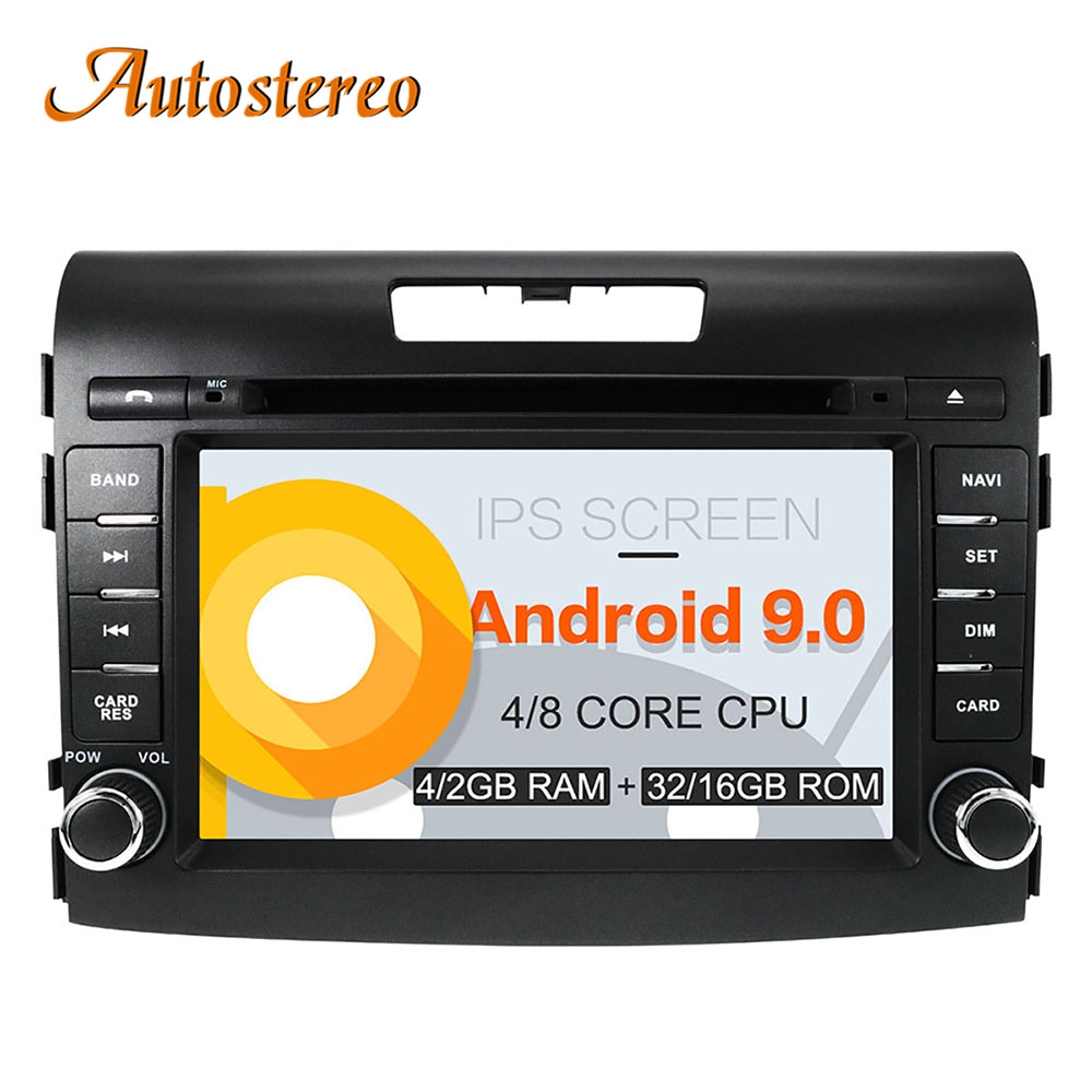 Android 9 Car DVD Player for Honda CRV 2012 2016 GPS navigation stereo head Unit 2