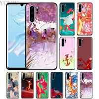 Mushu Mulan Nero per il Caso di Huawei P20 P Smart + 2019 P30 P10 P9 Nova 5i 5 Compagno 10 20 lite Pro Copertura Del Telefono Del Silicone Casos