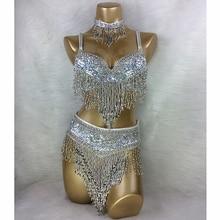 Traje de dança do ventre 3 pçs/set (sutiã + cinto + colar), atacado ouro & prata branco 4 cores # tf201, 34d/dd, 36d/dd, 38/d/dd, 40b/c/d, 42d/dd