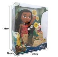 Moana Toys Talks Sing Songs How Far I'll Go Luminescence Friends PUA HEI HEI Pig PVC Vinyl Figure Boneca Talking Singing Dolls