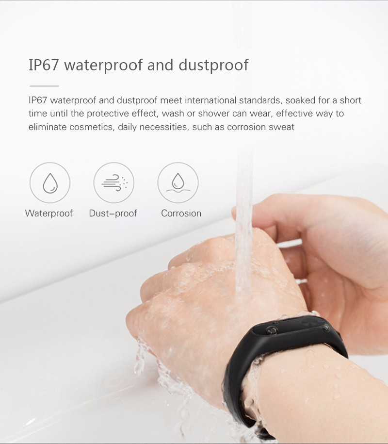 Oryginalny xiaomi mi kompania 2 miband bransoletka wistband inteligentnego tętno fitness ekran oled wyświetlacz dla iphone 7 touchpad bluetooth 23