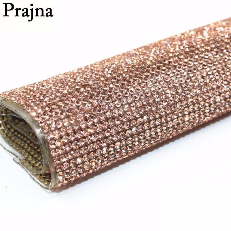 Prajna Glass Rhinestone Trim Crystal Beaded Applique Hotfix Iron On Strass  Mesh Banding In Roll DIY 49f1dda0f002