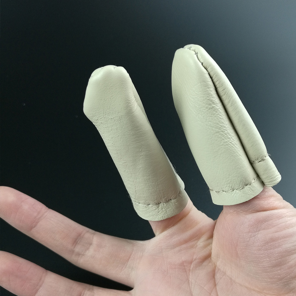 Hot Sale 5 Pairs Thumb Index Finger Protector Leather Needle Felting Thimble Guard Hand Craft Embroidery Cross Stitch Tool