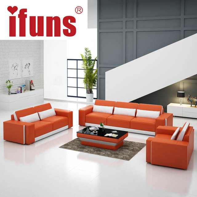 Online Shop Ifuns Luxury Royal Italian Leather Sofa Antique Chaise