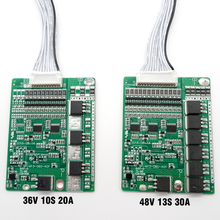 3.6 فولت/3.7 فولت ليثيوم أيون الخليوي 10 ثانية 36 فولت 20A و 13 ثانية 48 فولت 30A BMS ، ل 36 فولت 20Ah أو 48 فولت 30Ah ليثيوم أيون حزمة ، مع وظيفة التوازن