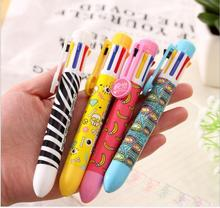 Japan classic Cute Summer Style ballpoint pen 8 color automatic colored ball pen roll Office School Supplies WJ0742