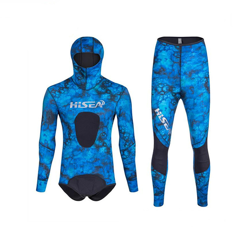 Hisea 1 5mm neoprene diving suit Split wetsuit professional Fishing and hunting clothes more comfortable thin