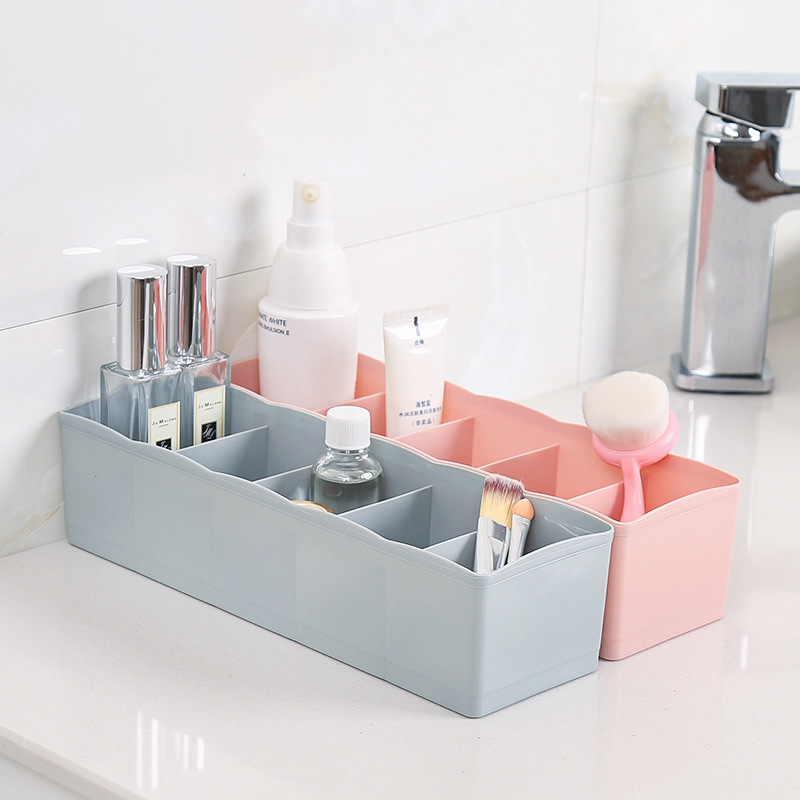 5 Lattices Plastic Storage Box, Jewelry Case, Sundries Sorting Container, Drawer Organizer for Sock Underwear Tie Makeup Items пляж на самуи