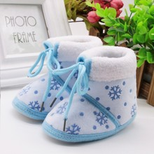 Winter Warm Booties Baby Boys Girls Shoes For Newborns Infant Prewalker Toddler Baby Printed Boots 3 Colors