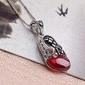 2016 famosa de corea del diseño clásico de plata collar colgante de mariposa de la princesa corto de deseo granate Charm sra. regalos ys0010
