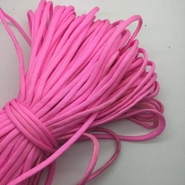 10yds/lot розовые Паракорды Браслеты Веревка 7 Strand парашют шнур Кемпинг Туризм # sz74