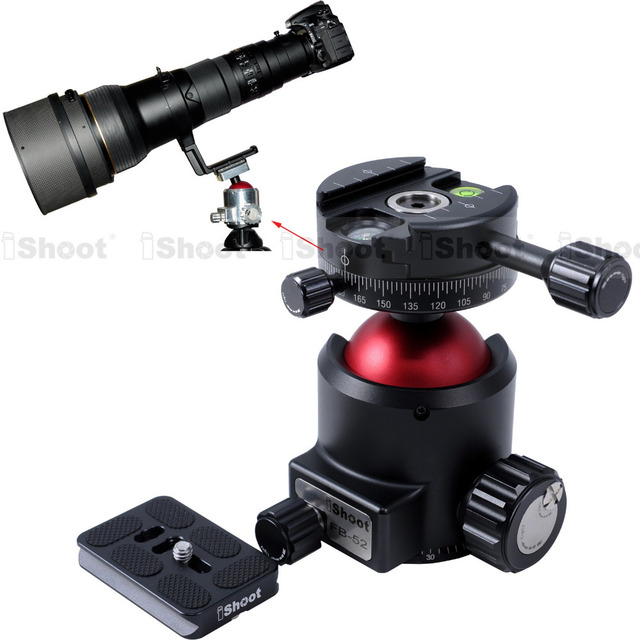 Original Panoramic Ball Head + Camera Quick Release Plate with Panorama Clamp & Base Low Center of Gravity High Locking Force