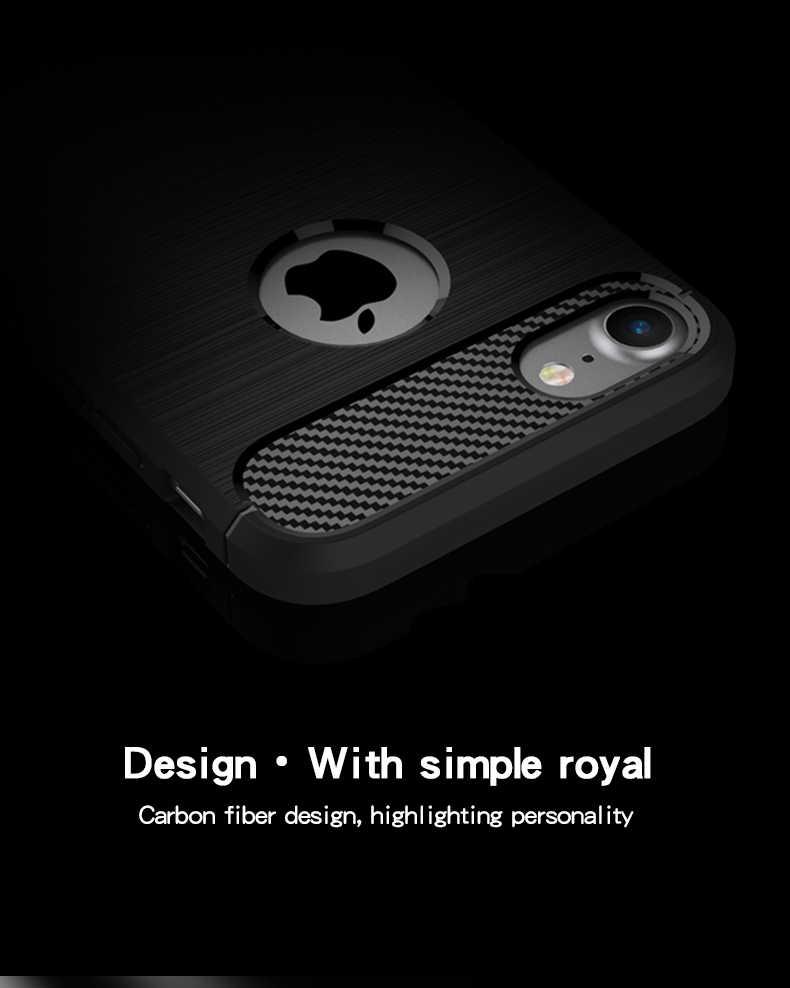 Caso MOFi Para iPhone 7 Silicone Macio Case Capa TPU Caso de Telefone Casos De Fibra De Carbono Para o iphone 7 Fundas de Volta cobrir