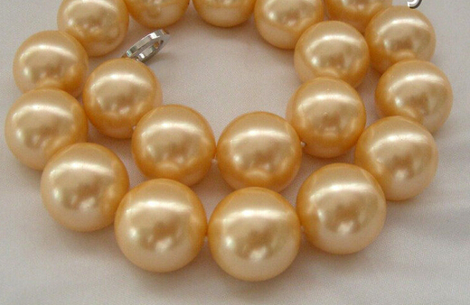 stunning big 20mm round south sea shell pearl necklace AAA style Fine Noble real Natural free shippingstunning big 20mm round south sea shell pearl necklace AAA style Fine Noble real Natural free shipping