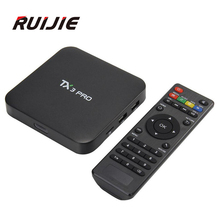 Tanix TX3 Pro S905X Android 6.0 TV Box Amlogic 1.5 GHz 1G/8G IPTV KODI Portugal Ruso Hebreo Europa IPTV Smart Media jugador