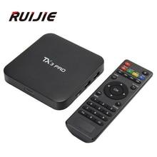 Tanix TX3 Pro S905X Android 6.0 TV Box Amlogic 1.5 GHz 1G/8G IPTV KODI Portugal Ruso Hebreo Europa IPTV Smart Media jugador