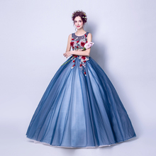 Angel Wedding Dress Marriage Evening Bride Party Prom Bridal Gown Vestido De Noiva  Blue camouflage, fantasy flowers  2017 7572