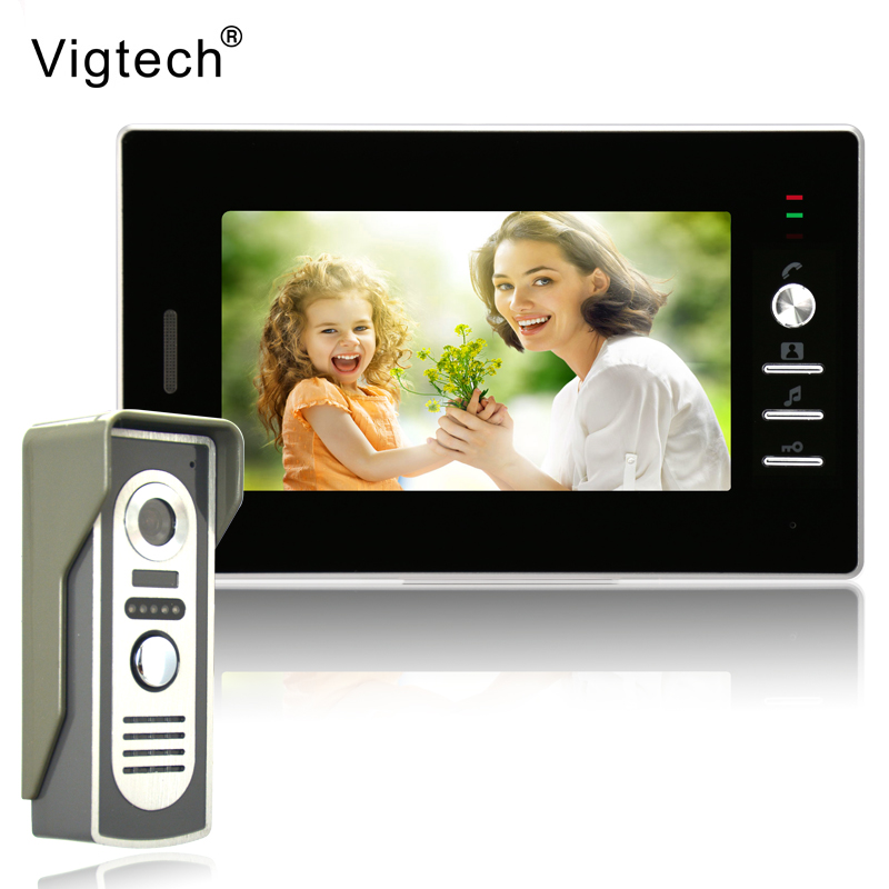 Vigtech 7 inch LCD Color Video door phone Intercom System Weatherproof Night Vision Camera Home Security FREE SHIPPINGVigtech 7 inch LCD Color Video door phone Intercom System Weatherproof Night Vision Camera Home Security FREE SHIPPING