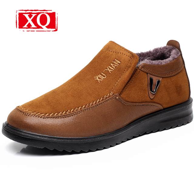 XQ Caballero invierno nieve zapatos Moda hombre Botas hombres botas  calientes algodón acolchado Trabajo y Seguridad 0d35e14e193