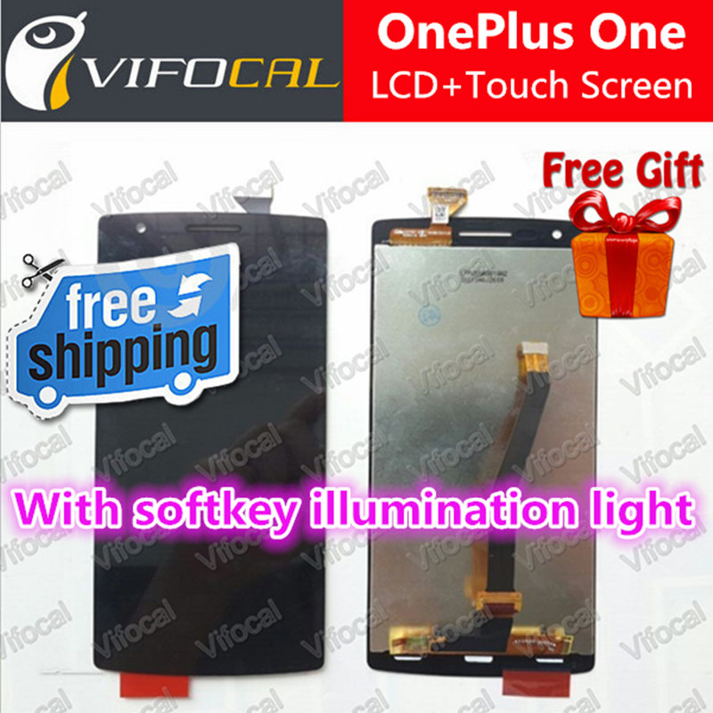 Oneplus One LCD Display + Touch Screen Digitizer Assembly Replacement for Cyanogenmod With softkey illumination light