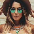 Новый 2018 круглые солнцезащитные очки в стиле ретро Для женщин Брендовая Дизайнерская обувь солнцезащитные очки для женщин сплав зеркало женские солнцезащитные очки de sol UV400 - фото