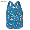 30cm Width Children's Full Printed Cartoon Canvas Backpack Kids Totoro Printing School Bags D
