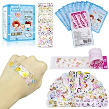 100Pcs Children Dreathable transparent Waterproof Wound Patch Cartoon Bandage Band-Aid Hemostatic Adhesive baby thing