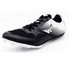 5568a719a Hombres Mujeres picos zapatos corrientes Dash Sprint deportes al aire libre  zapatos ultraligeros Track Field Trainer
