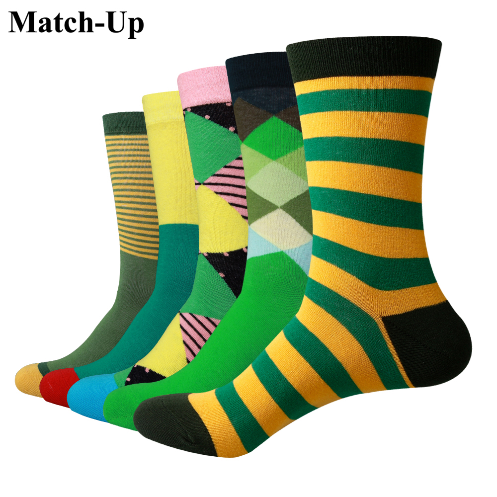 Match-Up  Green socks  ,Green styles funny Crew socks (5pairs/lot)