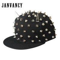 Janvancy Steampunk Baseball Cap Mannen Vrouwen Klinknagel Hiphop Platte Snapbackhoed Toont/party Stoom Punk Caps Man Vrouwelijke nieuwigheid