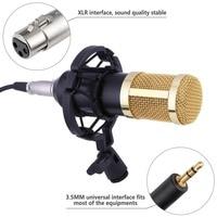 Комплекты микрофона Professional конденсаторный микрофон + Mic Shock Mount + мяч-тип анти-ветер колпачок + Microfono кабель питания