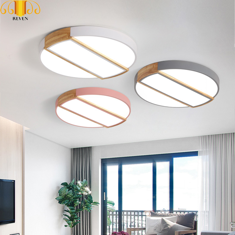 Reven Led Ceiling Modern Iron Acryl Colorized Round 5cm Super Thin Led Lamp.led Lights In Short Supply Lights & Lighting Ceiling Lights