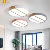 REVEN современное железо акрил цветной круглый 5 см супер тонкий светодиодный светильник. Светодиодный светильник. СВЕТОДИОДНЫЙ Потолок