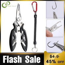 Fishing Multifunctional Plier Scissor Fishing Lanyards Boating Ropes Kayak Camping Secure Pliers Lip Grips Tackle Fish Tools GYH(China)