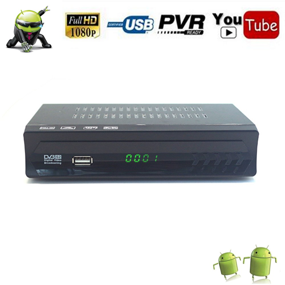 Satellite TV Receiver Decoder Tuner AV2018 Fully HD DVB S2 Receptor support NIT Search OTA FTP upgrade IKS BISS Youtube TV BOX-in Satellite TV Receiver from Consumer Electronics