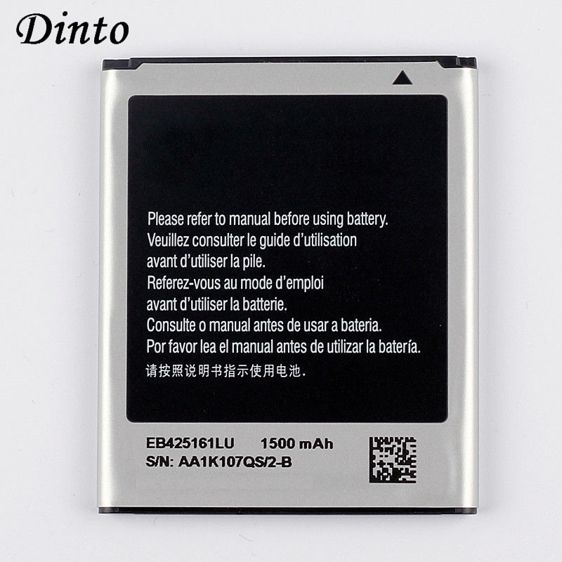 Dinto 1pc 1500mAh EB425161LU Phone <font><b>Battery</b></font> for Samsung GT-S7562L S7560 S7566 S7568 S7572 S7580 S7582 i8160 <font><b>i8190</b></font> i739 T59 image