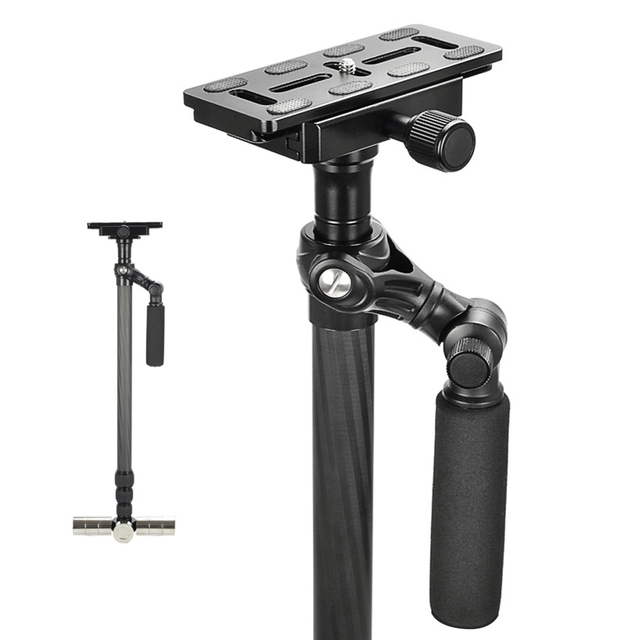 "Mcoplus DSLR Stabilizer 26""-59""/60-150cm 360-degree Rotatable Carbon Fiber Camera Steadicam for Digital SLR Camera"