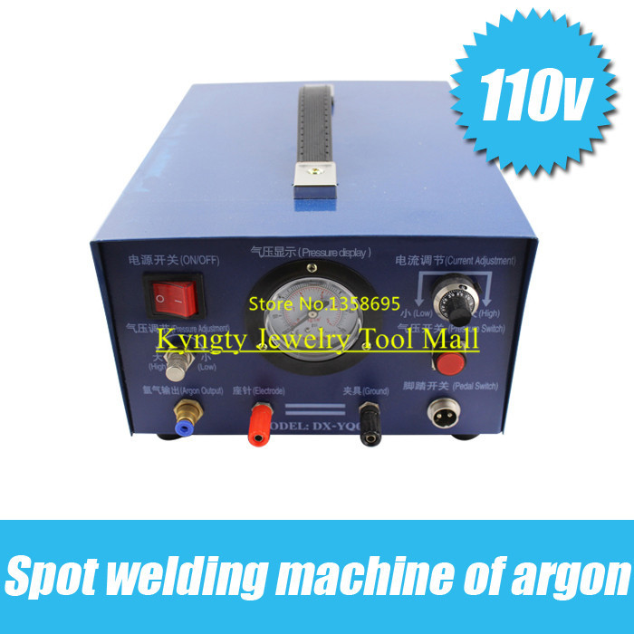 NEW! 110V Professional Argon Sparkle Welder with 1 pcs electrode and1 pc clamp цена