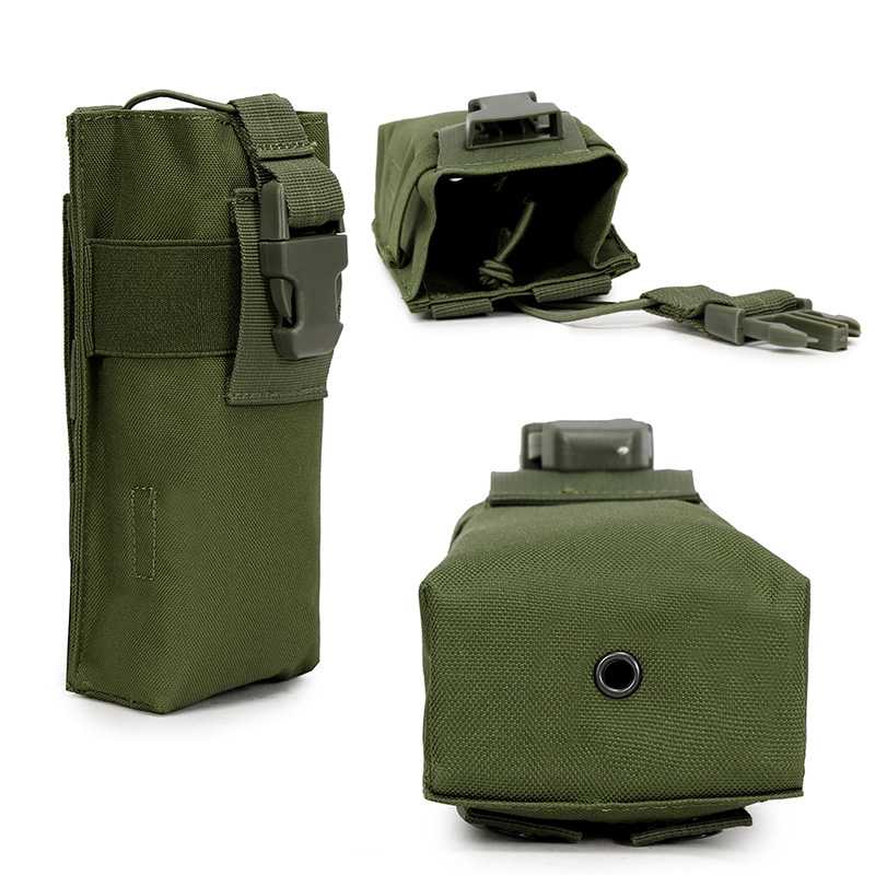 Outdoor Molle Radio Talkie Water Bottle Canteen Bag Pouch Outdoor Sports Hunting Military Tactical Airsoft Paintball