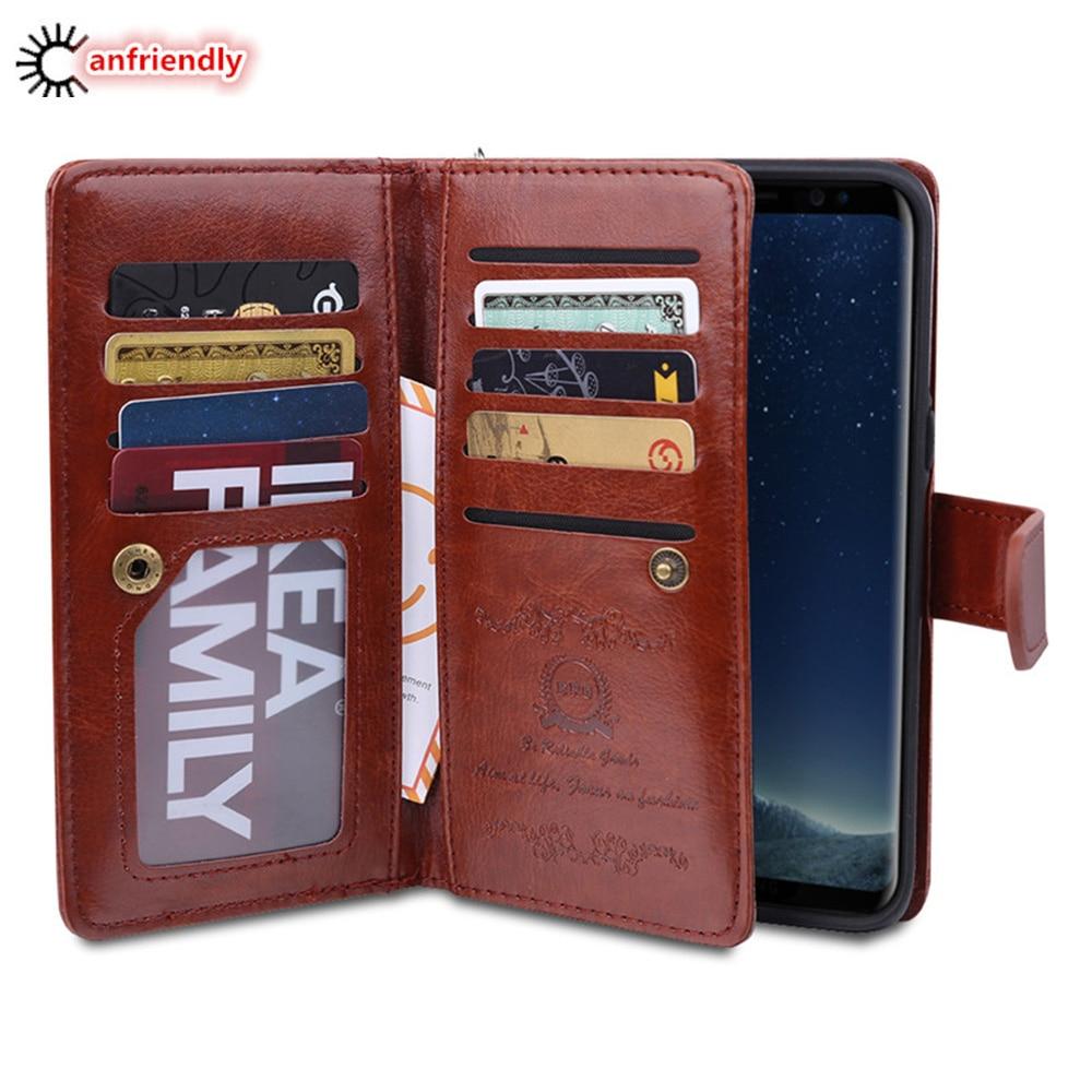 Samsung S8 Plus Case- ի շքեղ դրամապանակի կաշվե - Բջջային հեռախոսի պարագաներ և պահեստամասեր - Լուսանկար 1