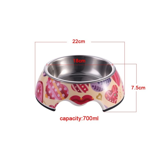 Stainless Steel Dog Feeders Pet Feeding Bowl Multiple Sizes Cat Food Water Bowl Water Food Dish Pet Storage S/M/L Non-slip