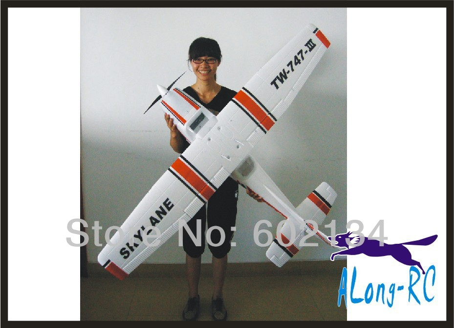 где купить EPO plane/ RC airplane/RC MODEL HOBBY TOY/HOT SELL BEGINNER plane 6 channel plane Wingspan1560mm CESSNA182 TW747-3 (PNP set) по лучшей цене