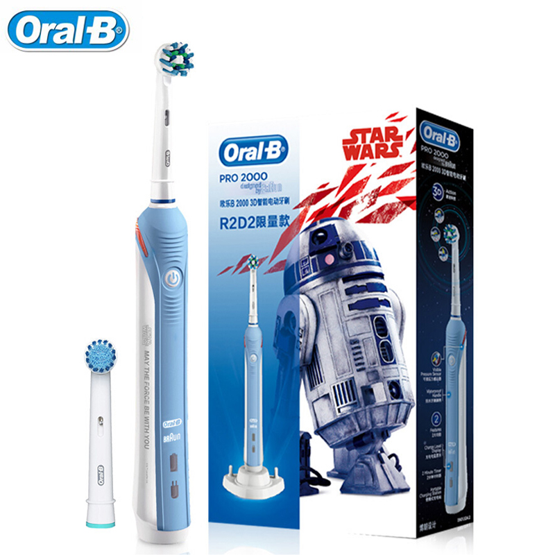 Oral b PRO 2000 3D สมาร์ทไฟฟ้าแปรงสีฟันสำหรับผู้ใหญ่ฟัน Whitening ชาร์จ 48800 ความถี่จากเยอรมนี Sensitive Care-ใน แปรงสีฟันไฟฟ้า จาก เครื่องใช้ในบ้าน บน AliExpress - 11.11_สิบเอ็ด สิบเอ็ดวันคนโสด 1
