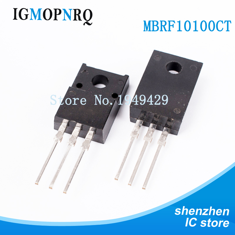 10PCS/lot MBRF10100CT 10100 MBRF10100 TO-<font><b>220</b></font> Schottky diode with rectifier 10 Amp Volt <font><b>100</b></font> Dual image