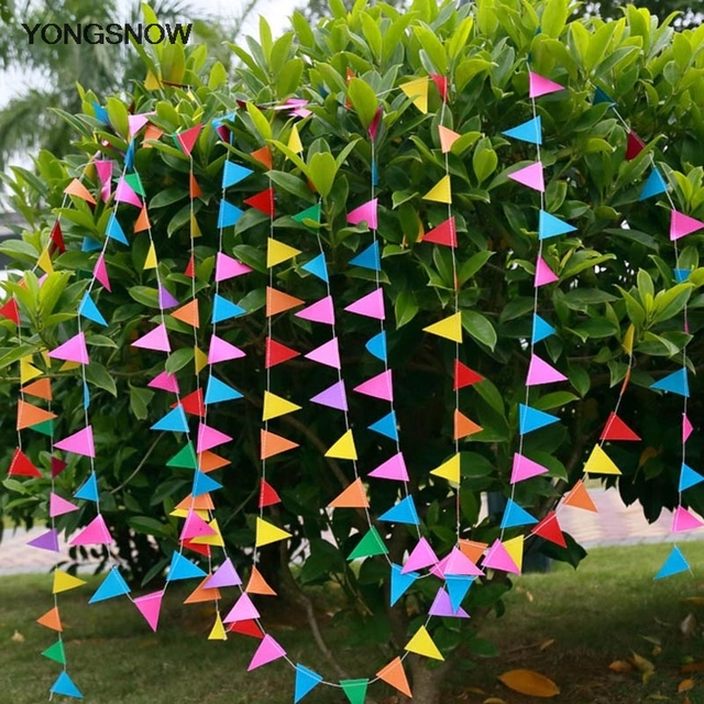 4m mini paper garland happy birthday hanging banners bunting wedding