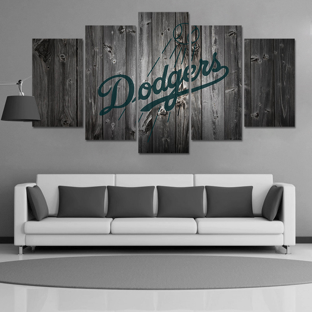Hd Print Baseball Los Angeles Dodgers Fans Painting On Canvas Wall Art Picture Modern Home Decor Pt1145 In Calligraphy