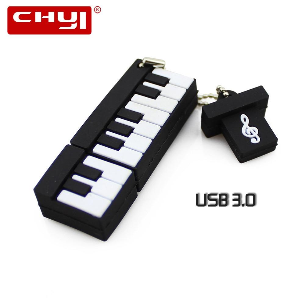 Симпатичные Фортепиано Клавиатура USB 3.0 USB Флэш-Накопители 8 ГБ 16 ГБ 32 ГБ 64 ГБ Pen Drive Memory Stick Pendrive U Диск