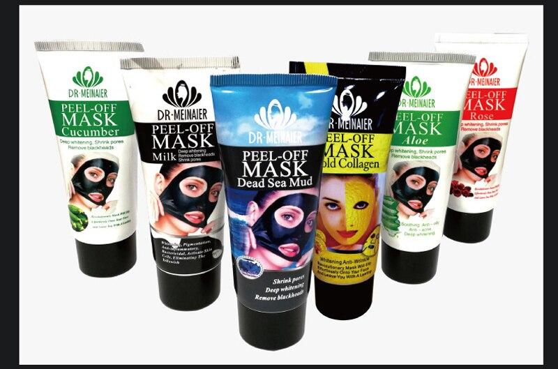 Plant Rose Aloe Blackhead Remover Acne Treatment  Mud Pore Strip Black Mask Peel Off Mask Nose Peel Mask Skin Care 60g