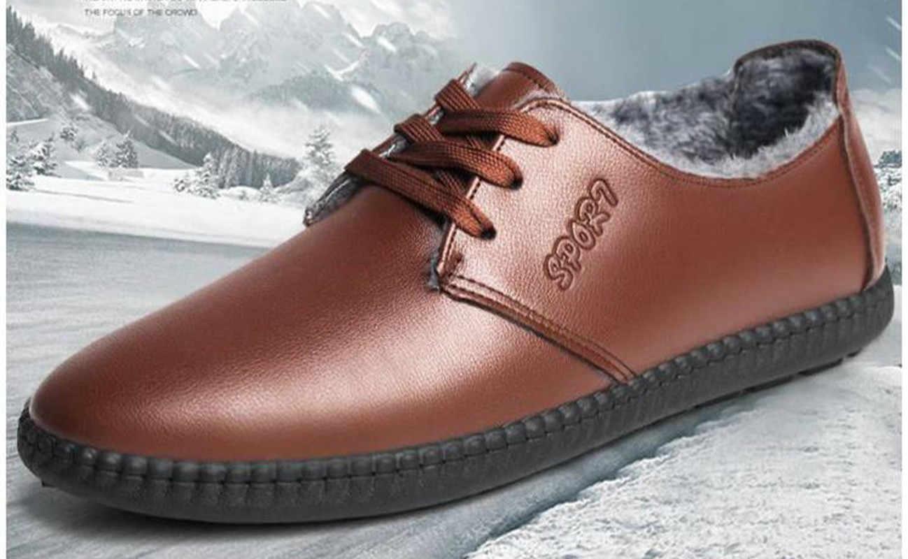 Фото ACEBUY2/Мужские модельные туфли лоферы зимняя обувь бархатная теплая хлопковая